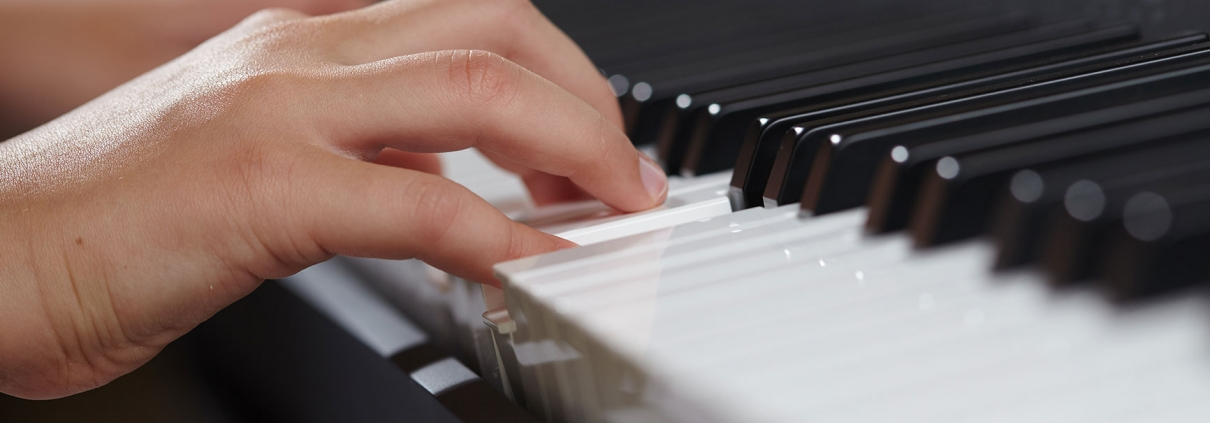 Close up of Piano playing
