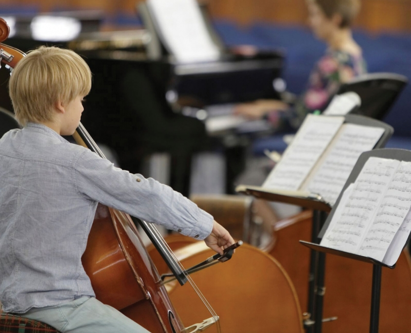 Young Double Bass Player